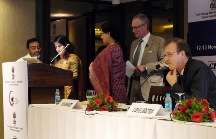 Five speakers at GITA 2013. Photo.