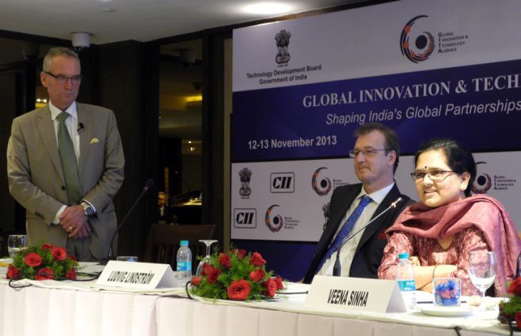 Three speakers at GITA 2013. Photo.