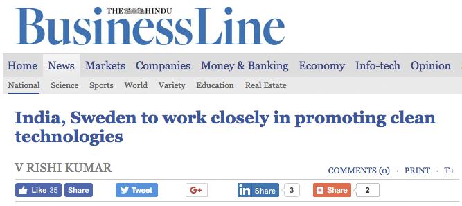 Screenshot of The Hindu BusinessLine website.