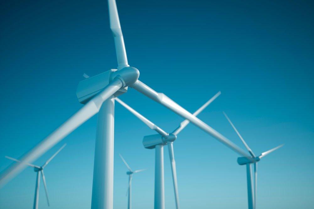 Wind turbines. Photo.