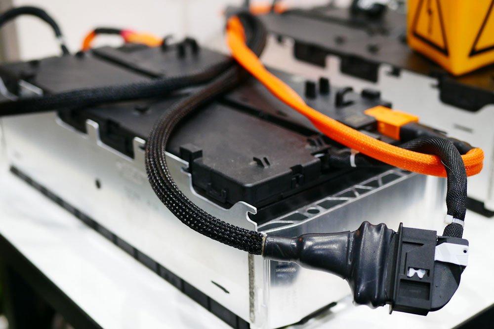 Car battery. Photo.